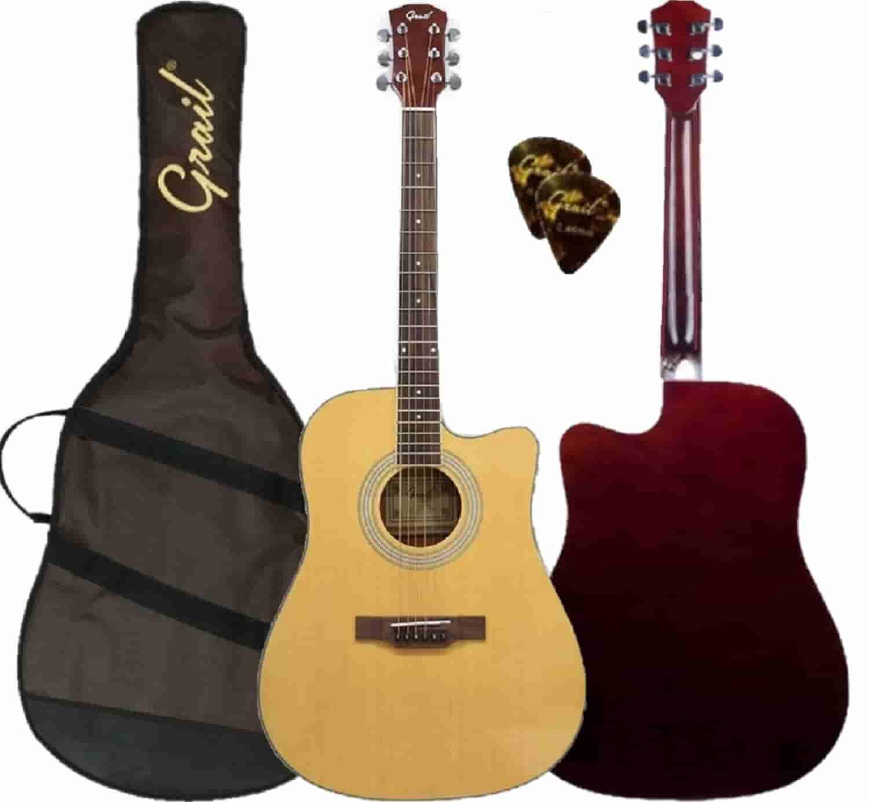 Grail Aspire D120C Acoustic Guitar Cutaway Spruce Top