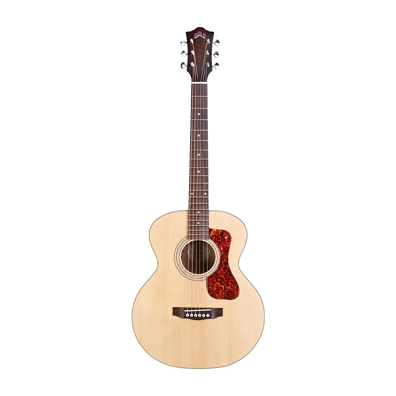 Guild Jumbo Junior E Semi Acoustic Guitar with Piezo Pickup Natural