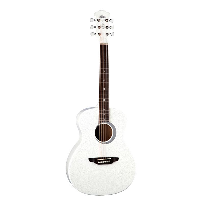 Luna Aurora Borealis 3/4 Size Acoustic GuitarWhite Sparkle