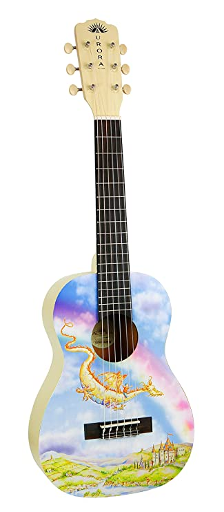 Luna Aurora 1/2 Acoustic Guitar Nylon Dragon