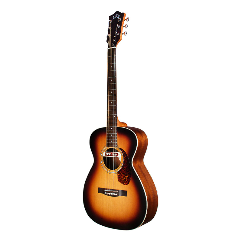 Guild M 240E Troubadour Semi Acoustic Guitar Vintage Sunburst.