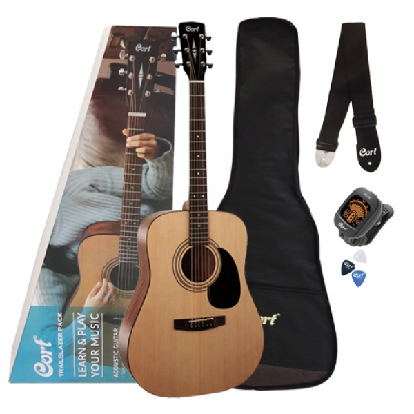 Cort CAP810 OP Acoustic Guitar Jam Pack Open Pore