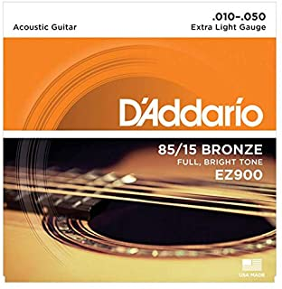 D'Addario Acoustic Guitar Strings 85/15 Bronze 010- 050 Set EZ900