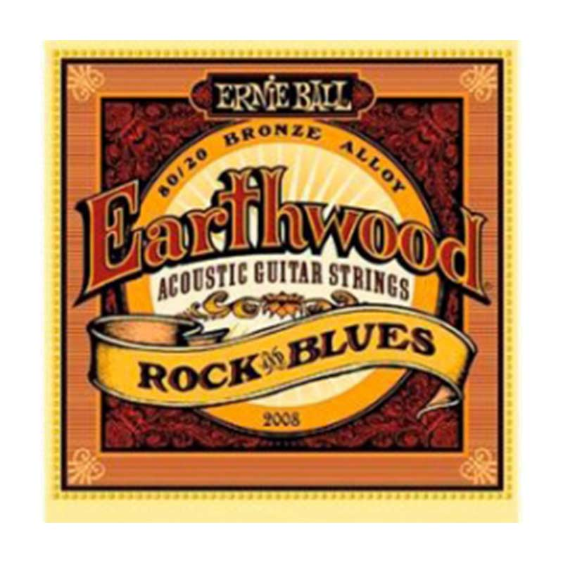 Ernie Ball 2008 Earthwood Rock and Blues 80 -20 Bronze Acoustic Set 10 -52