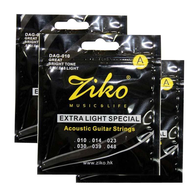 Ziko DAG 010 Extra Light Acoustic Guitar String 10 -48