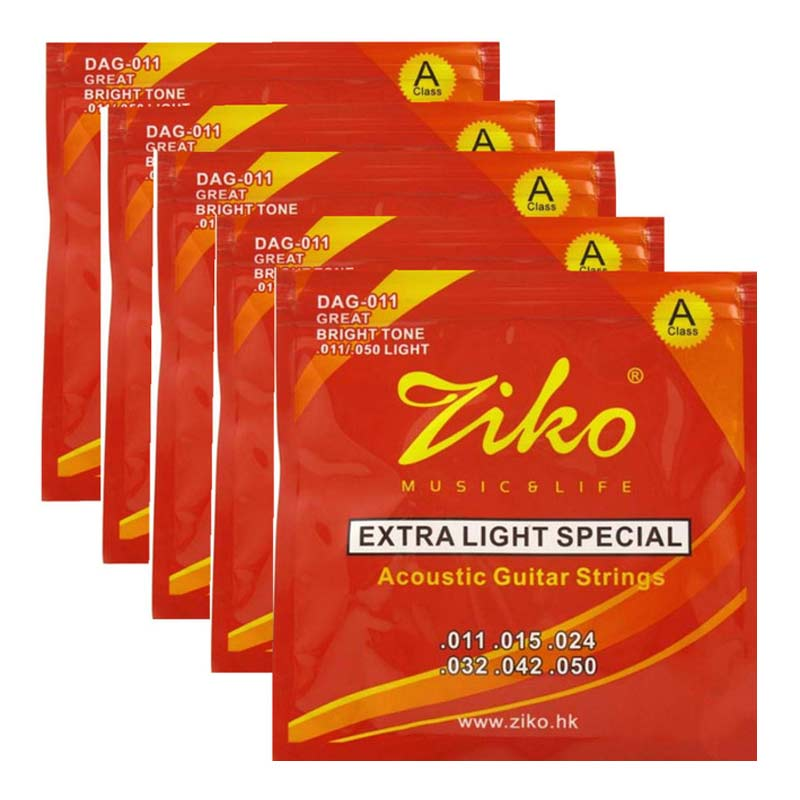 Ziko DAG 011 Custom Light Acoustic Guitar String 11 -50