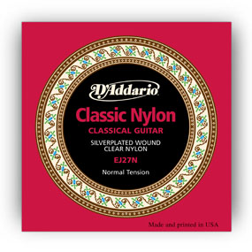 D'Addario Classical Guitar Strings Student Normal Clear Set EJ27N