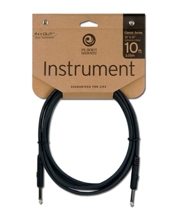 Planet Waves Instrument Cables 10 Feet PW-CGT-10