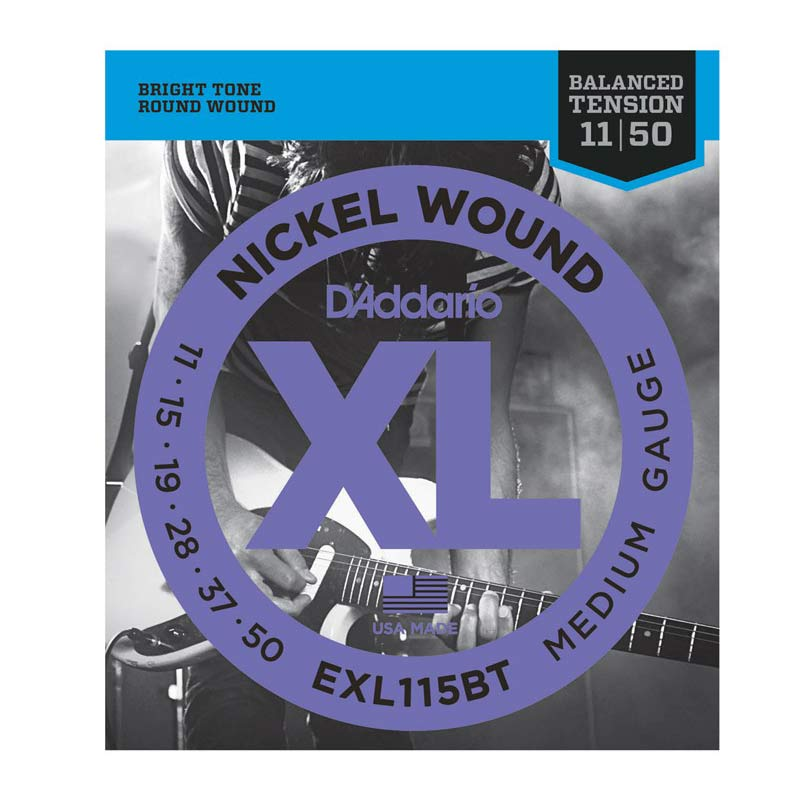 D Addario Electric Guitar Strings XL Nickel Balance Tension .011-.050 Medium Set EXL115BT