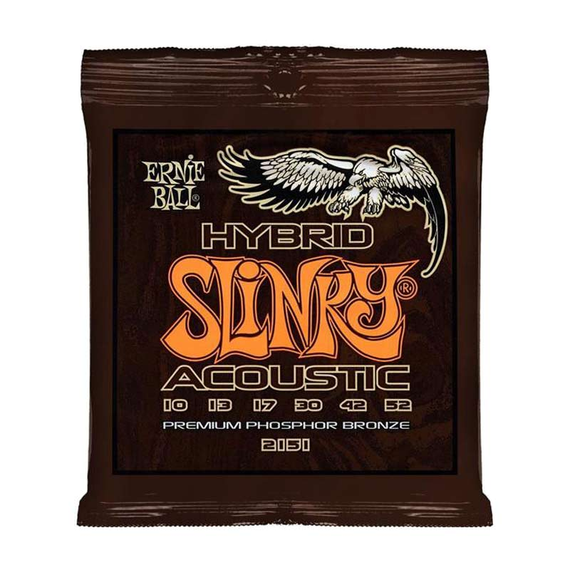 Ernie Ball 2151 Hybrid Slinky Phosphor Bronze Acoustic Guitar String 10-52