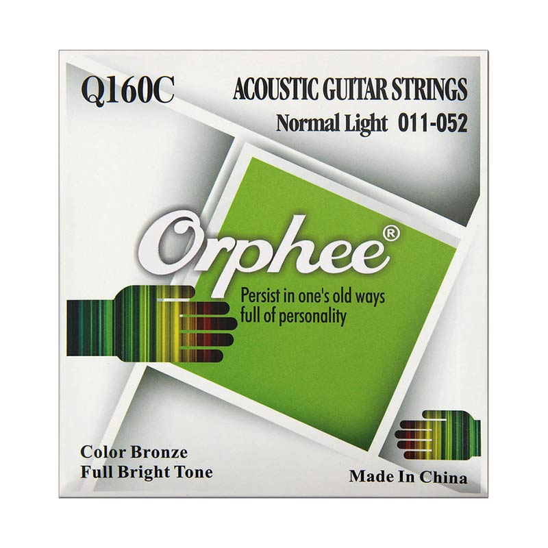 Orphee Q160C Acoustic Guitar String Set 11-52