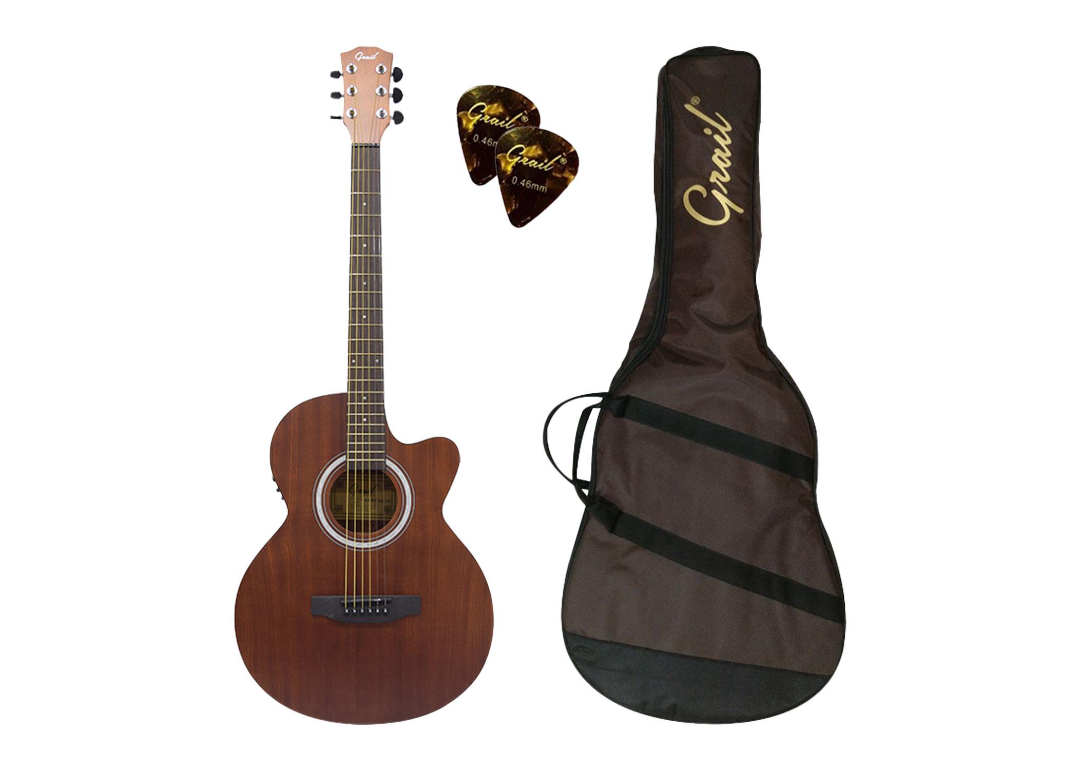 Grail Allure A190CE SAS Semi Acoustic Guitar Cutaway All Sapele