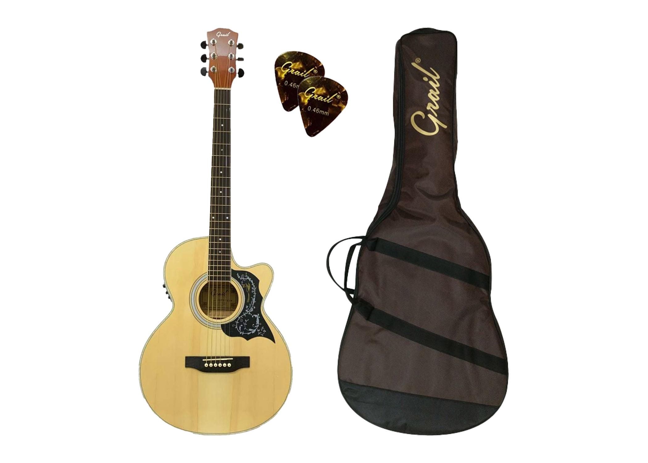 Grail Allure A190CE SP Semi Acoustic Guitar Cutaway Spruce Top