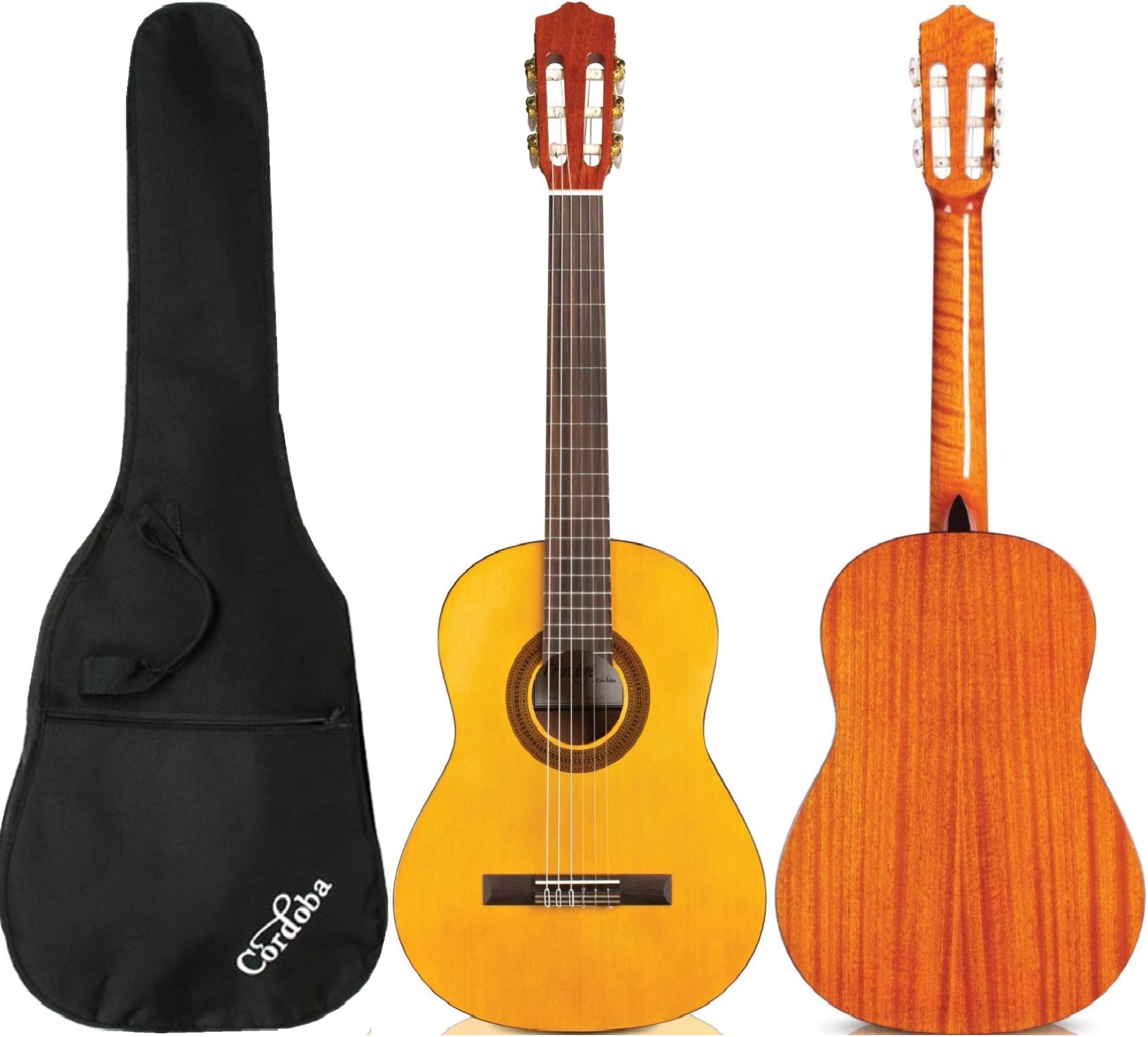 Cordoba C1 Protege Nylon-String Classical Acoustic Guitar Full-Size with Cordoba Bag ( Natural)