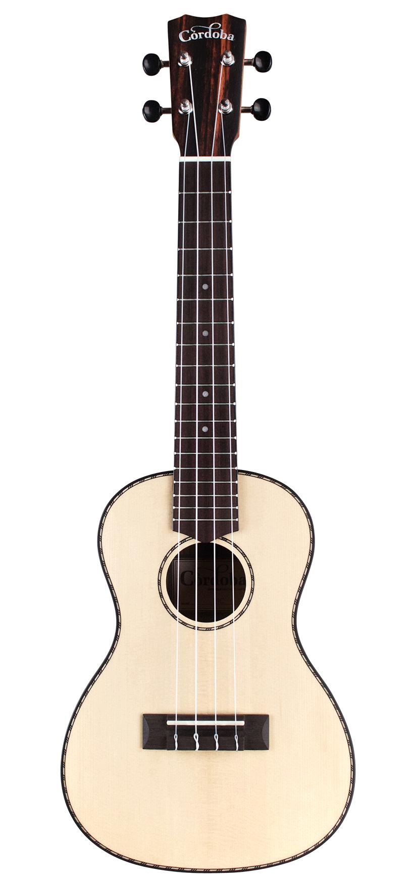 Cordoba 21C SP Concert Ukulele Solid Spruce with Ebony Back and Sides