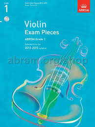 AB Violin Examination Pieces 2012 to 2015 Grade 1