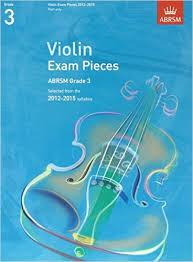 AB Violin Examination Pieces 2012 to 2015 Grade 3