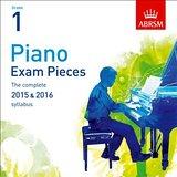 AB Piano Exam Pieces 2015 to 2016 Grade 1