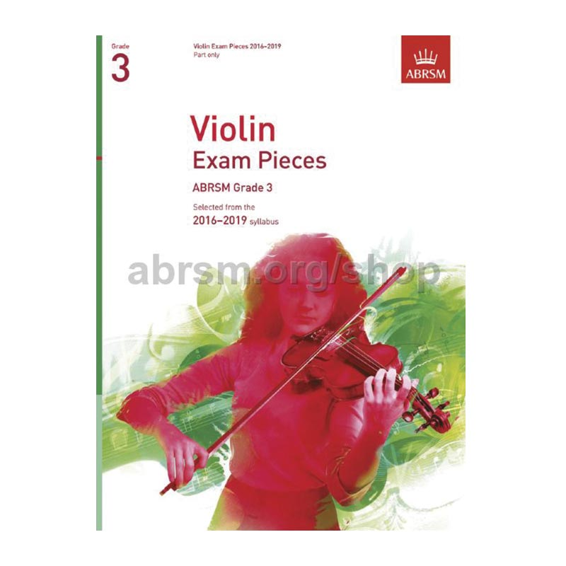 AB Violin Examination Pieces 2016 to 2019  Grade 3