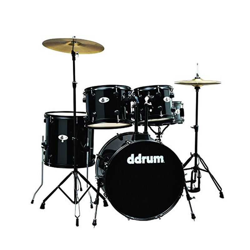 Ddrum D120B MB Drum Set 5 Pcs with Hardware Throne and Cymbals Black