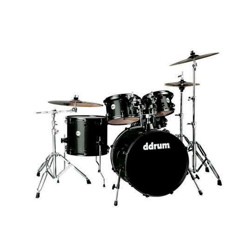 Ddrum J2R 524 BSP Journeyman Drum Set  5 Pcs with stands Black Sparkle