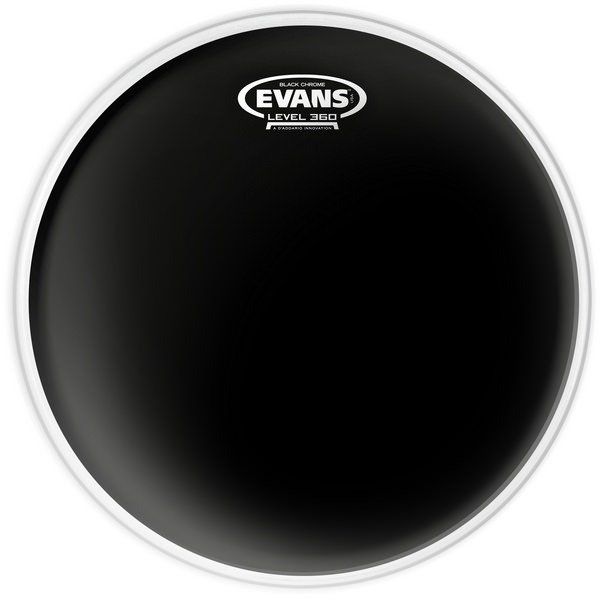 Evans TT10CHR 10 Inches Drumhead  Black Chrome