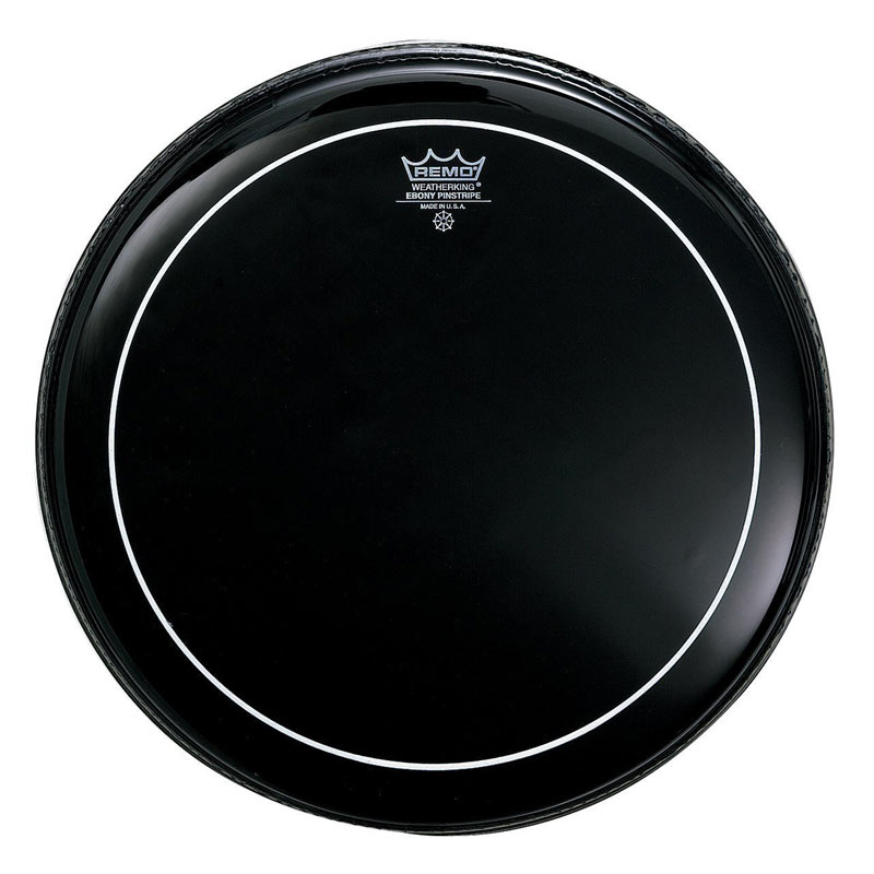 Remo ES0613PS Ebony Pinstripe Drum Head 13 Inches