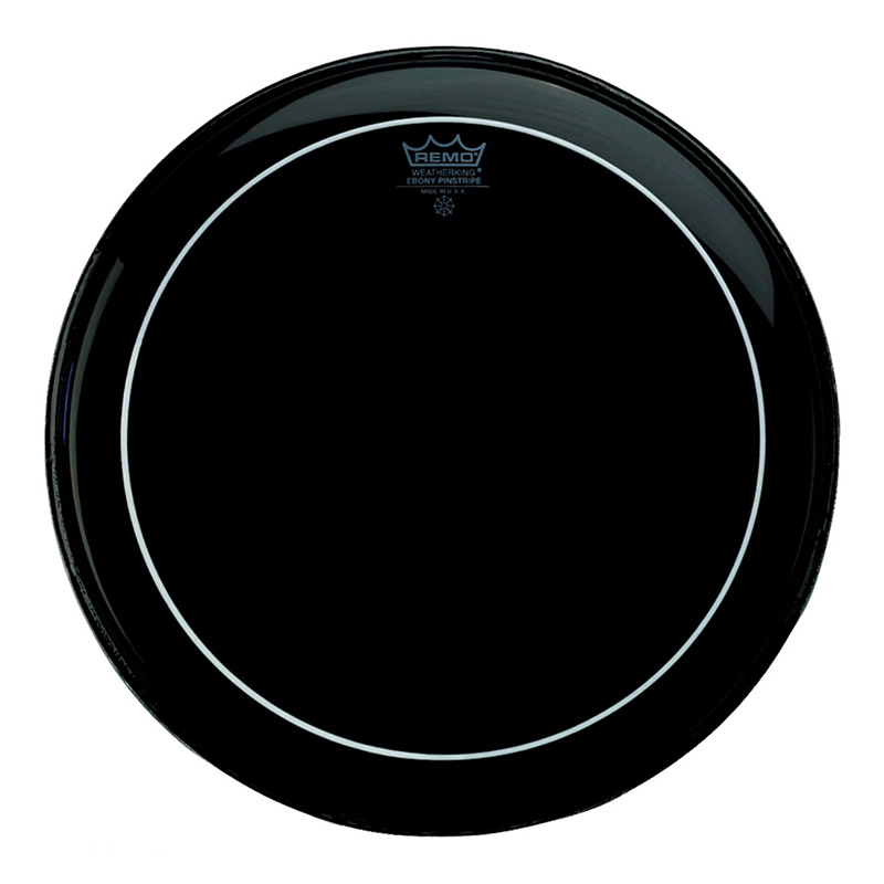 Remo ES1622PS Ebony Pinstripe Drum Head 22 Inches