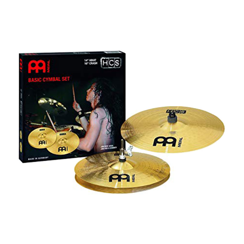 Meinl HCS1416 Cymbal Pack with 14 Inches Hi Hat Pair and 16 Inches Crash Cymbal