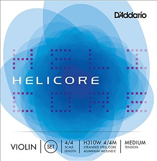 D'Addario Violin Strings Helicore Medium - Set H310 4x4M