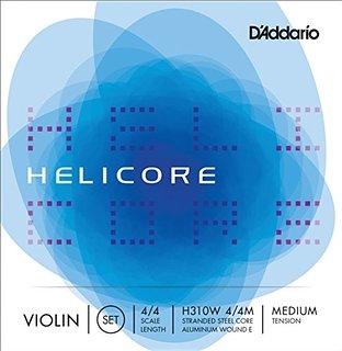 D'Addario Violin Strings Helicore Medium - Set H310 4x4M