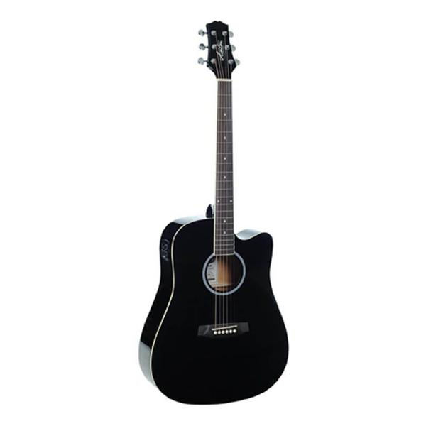 Ashton D20 CEQ BK Semi Acoustic Guitar with EQ Black