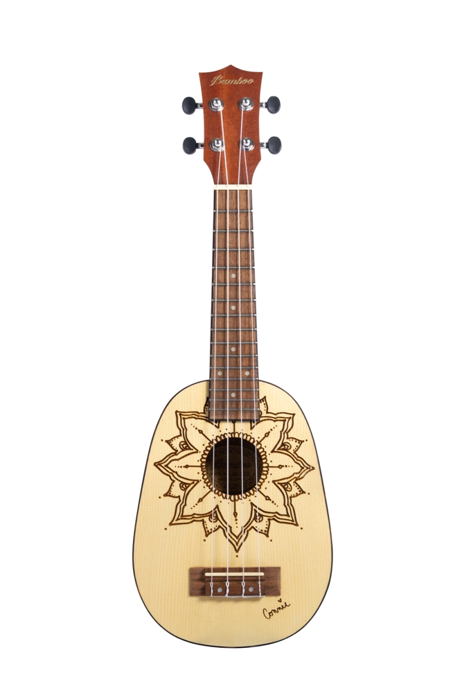 BAMBOO Coisla Soprano Ukulele Earth Series Acoustic | For Beginners and Professionals | Sapele & Walnut | With Gig Bag (New Generation)