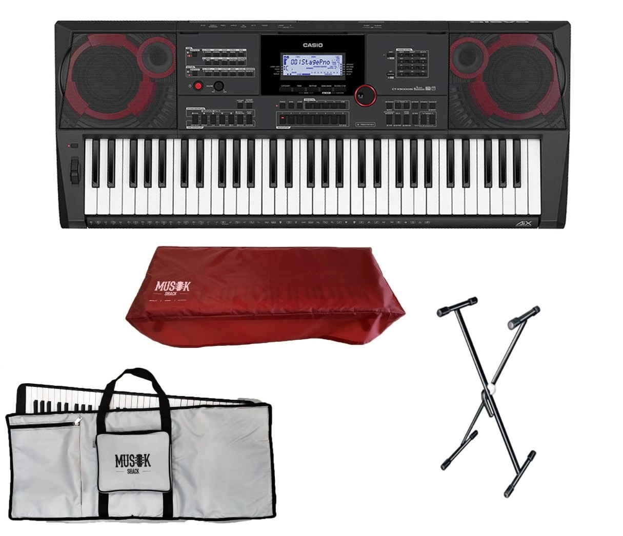 Casio CT-X9000IN Hi-Grade Keyboard with Bag, Stand and Dust Cover