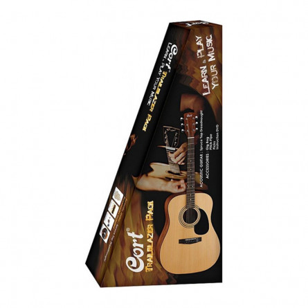 Cort CAP810 NS Acoustic Guitar Jam Pack Natural Satin
