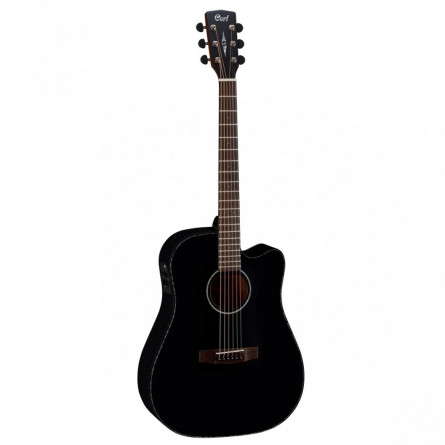 Cort MR E BKS Semi Acoustic Guitar Black Satin