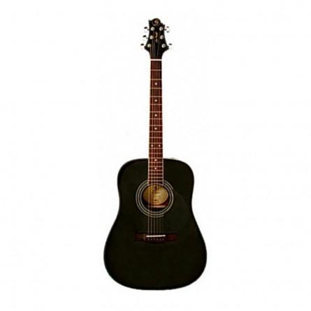 Greg Bennett GD 100S Acoustic Guitar Solid Spruce Top Black