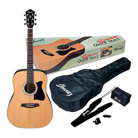 Ibanez V50NJP Acoustic Guitar Jam Pack Natural