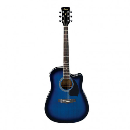 Ibanez PF15ECE TBS Semi Acoustic Guitar Transparent Blue