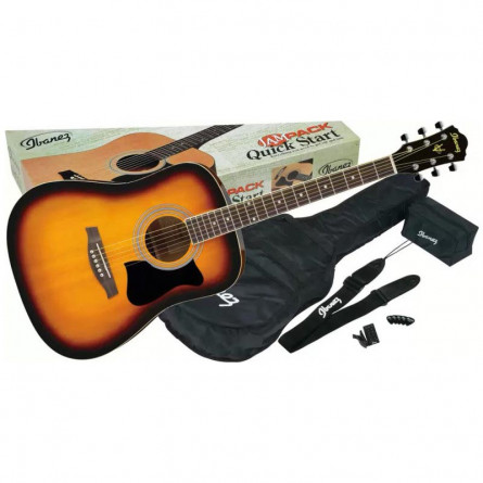 Ibanez V50NJP VS Acoustic Guitar Jam Pack Vintage Sunburst