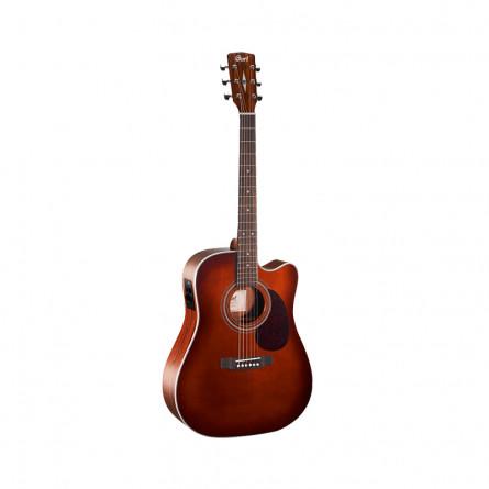 Cort MR500E BR Semi Acoustic Guitar Brown Burst