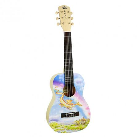 Luna Aurora 1/2 Acoustic Guitar Nylon Dragon