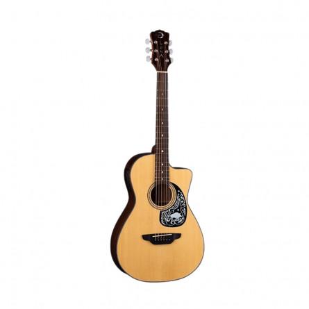 Luna Gypsy Zodiac Parlor Semi Acoustic Guitar