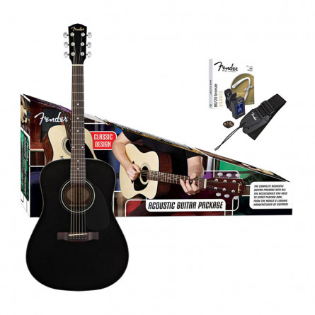 Fender CD60 BK Acoustic Guitar Pack Black