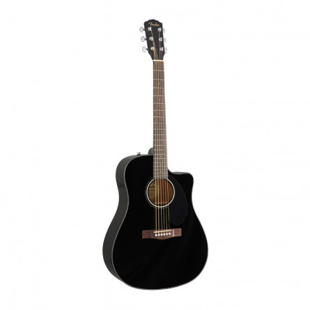 Fender CD 60SCE BLK Acoustic Guitar Black