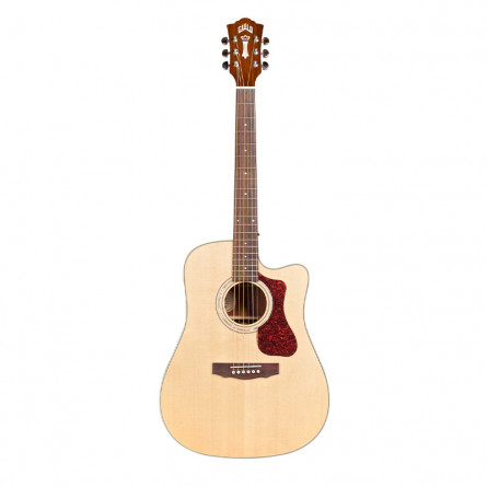 Guild D-140CE Semi Acoustic Guitar Natural with Case