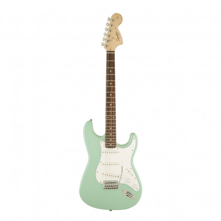 Fender Squier Affinity Stratocaster Electric Guitar Rosewood Fretboard S S S Surf Green