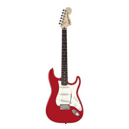 Fender Squier Bullet Stratocaster Electric Guitar Rosewood Fretboard S S S Fiesta Red