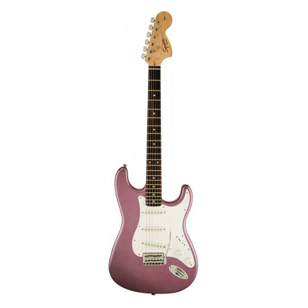 Fender Squier Affinity Stratocaster Electric Guitar Rosewood Fretboard S S S Burgundy Mist