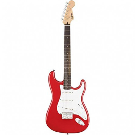 Fender Squier MM Stratocaster Hard Tail SSS LRL Red